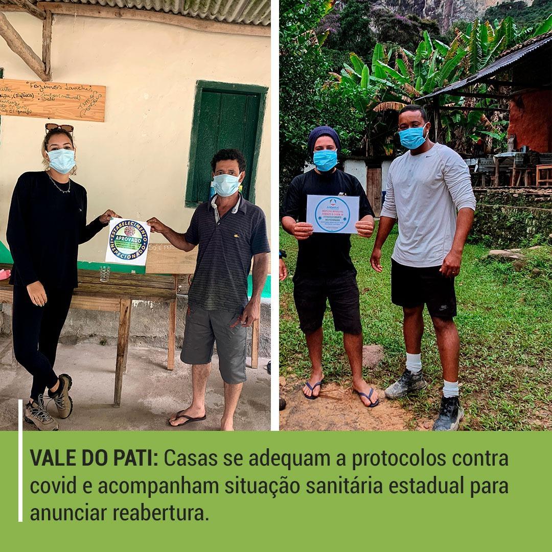 Vale do Pati: casas se adequam a protocolos contra covid e acompanham situação sanitária estadual para anunciar reabertura