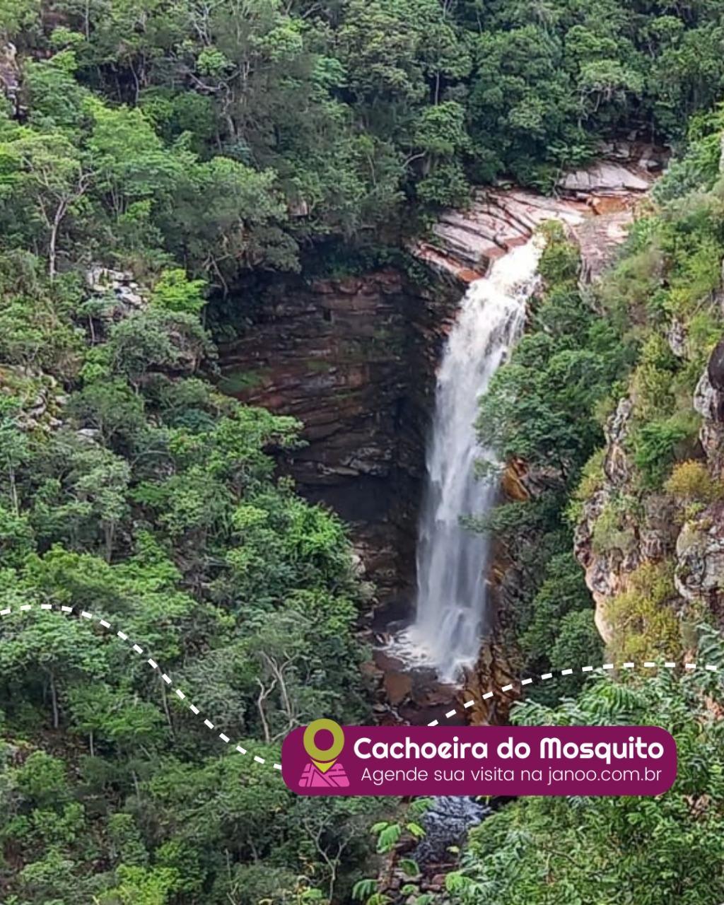 Cachoeira do Mosquito, em Lençóis, oferece agendamento online para visitantes
